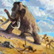mammoth, mammuth, hunting, hunt, paleolith, paleolithic age, hunters, tusk, ivory, primeval, primitive, humans